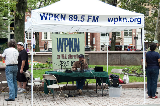 The WPKN booth