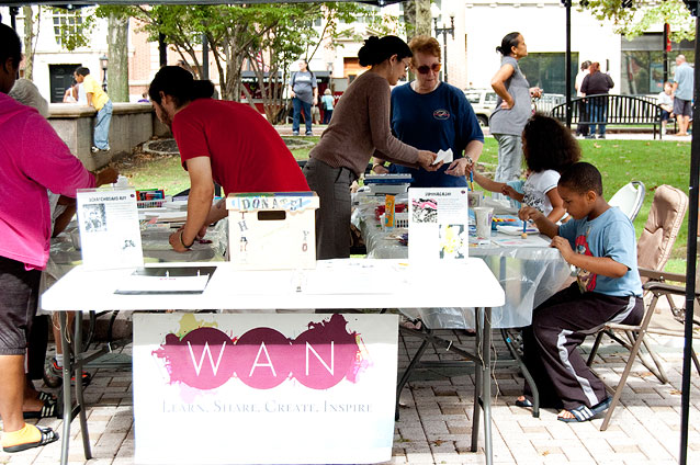 The W.A.N. activities booth
