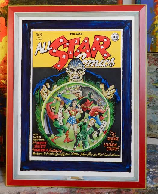 All Star Comics illustrated by Irwin Hasen