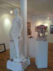Sculpture by Emily Bedard and Camille Eskell