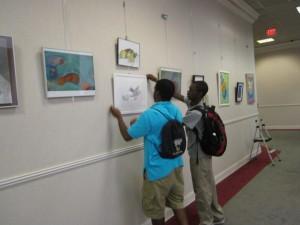 Students Install at City Hall