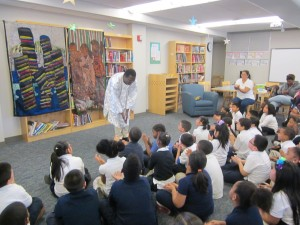 African Storyteller at Roosevelt school