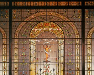 Majestic Theatre Stained Glass 1991