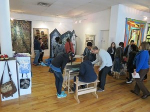 Gallery visit to City Ligihts: Students are introduced to weaving and view the exhibit COMMON THREADS, a fabric art exhibit that included Gee's Bend Quilts.