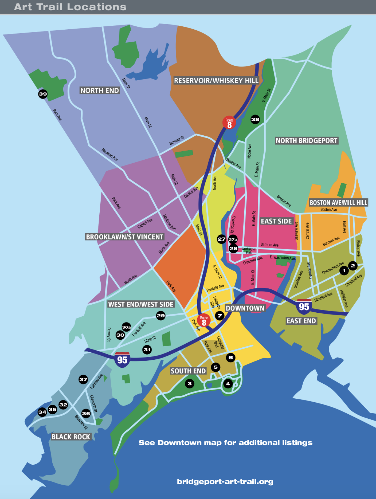 Bridgeport Art Trail Interactive Map