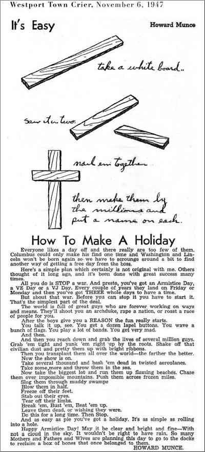 How to make a holiday
